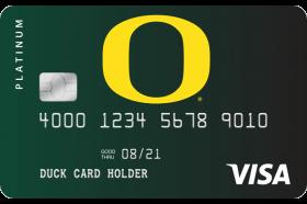 Oregon Community Credit Union Duck Card Platinum Visa