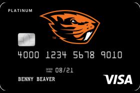 Oregon Community Credit Union OSU Beaver Card Platinum Visa