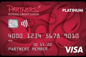 Partners Federal Credit Union Visa Platinum Credit Card