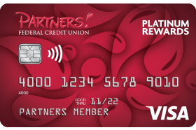 Partners Federal Credit Union Visa Platinum Rewards Credit Card