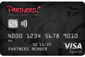 Partners Federal Credit Union Visa Signature Credit Card