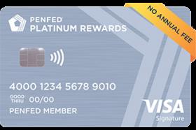 Pentagon Federal Credit Union Platinum Rewards Visa Signature Credit Card