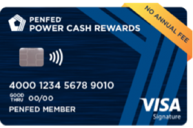 Pentagon Federal Credit Union Power Cash Rewards Visa Signature Credit Card
