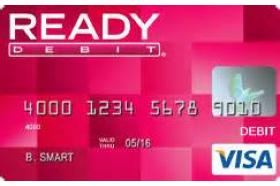 READY Debit Visa Prepaid Card