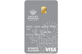 Valley Strong Credit Union Business Visa Platinum