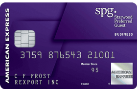 The Starwood Preferred Guest Credit Card from American Express®
