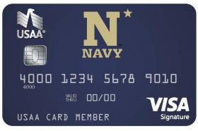USNA Alumni Association & Navy Athletics USAA Rewards™ Visa Signature® Card