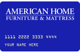 American Home Furniture & Mattress Credit Card