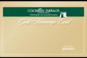 Colombian Emeralds International Gold Advantage Card