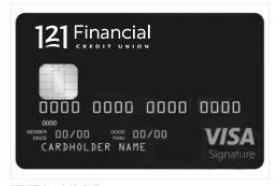 121 Financial Credit Union Visa Signature Credit Card
