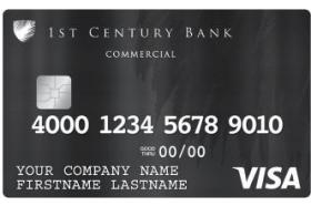 1st Century Bank Visa® Commercial Card