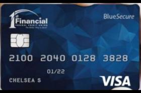 1st Financial Federal Credit Union Visa Blue Secure Card