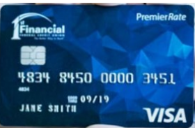 1st Financial Federal Credit Union Visa Premier Rate Card