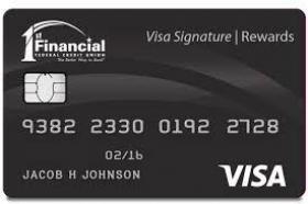 1st Financial Federal Credit Union Visa Signature Rewards Card