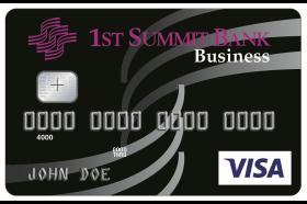 1st Summit Bank Business VISA® Credit Card