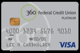360 Federal Credit Union Visa® Rewards Credit Card