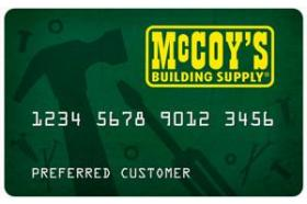 McCoy's Building Supply Credit Card