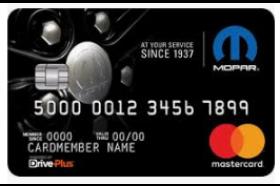 Mopar® DrivePlus Mastercard®
