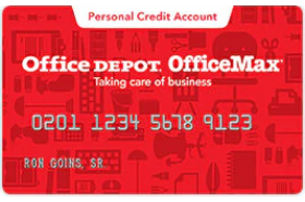 Office Depot Personal Credit Account