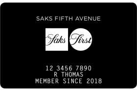 Saks Fifth Avenue SaksFirst Store Card