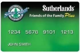 Sutherlands Credit Card