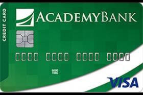 Academy Bank Credit Builder Secured Visa Credit Card