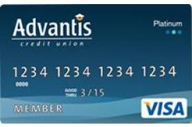Advantis Credit Union Visa Platinum Credit Card