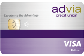 Advia Credit Union Visa Platinum Fixed Rate Credit Card
