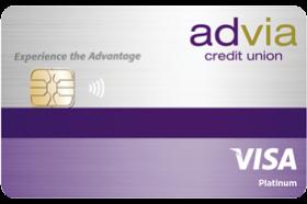 Advia Credit Union Visa Platinum Variable Rate Credit Card
