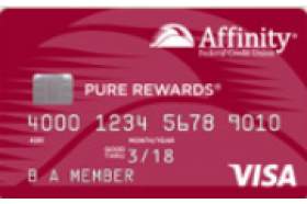 Affinity Federal Credit Union Pure Rewards Visa® Credit Card