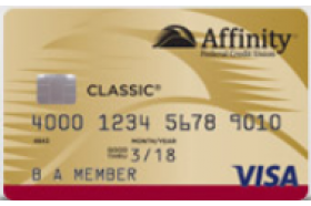 Affinity Secured Visa Credit Card