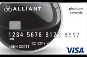 Alliant Credit Union Platinum Rewards Card