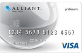 Alliant Credit Union Visa Platinum Card