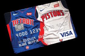 Flagstar Detroit Pistons Visa Credit Card