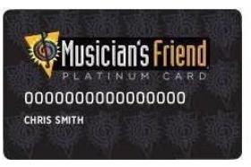 Musician's Friend Platinum Card