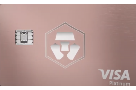 MCO Frosted Rose Gold Visa Card