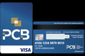 PCB Secured Visa® Credit Card