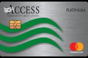 Access Community Credit Union Platinum Mastercard