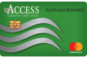 Access Community Credit Union Platinum Rewards Mastercard