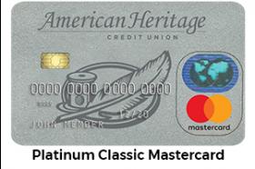 American Heritage Federal Credit Union Platinum Classic MasterCard®