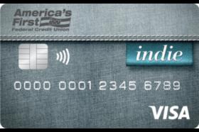 Americas First Federal Credit Union Indie Visa® Credit Card