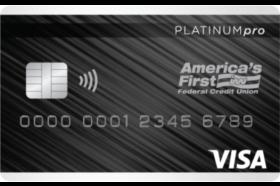 Americas First Federal Credit Union Platinum Pro Visa® Credit Card