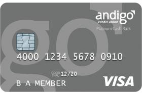 Andigo Credit Union Visa Platinum Cash Back Credit Card