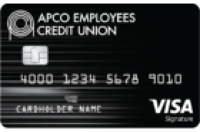 APCO Employees Credit Union Visa Signature Rewards Credit Card