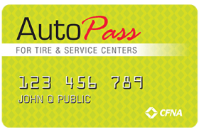 AutoPass for Tire and Service Centers Credit Card