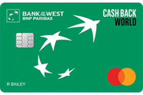 Bank of the West Cash Back World MasterCard