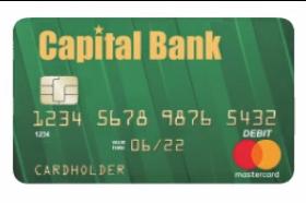 Capital Bank MasterCard® Debit Card