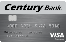 Century Bank of Massachusetts Visa Business Credit Card