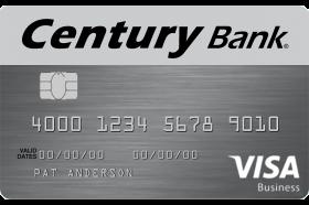 Century Bank of Massachusetts Visa Business Real Rewards Credit Card