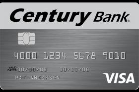 Century Bank of Massachusetts Visa Platinum Credit Card